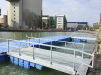 Ponton Personenumwegung Hafen Münster