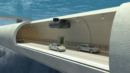 Unterwassertunnel in Norwegen auf Pontons