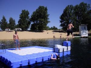 Badeinsel 5,0m x 5,0m mit Aufdopplung Jersleben 2