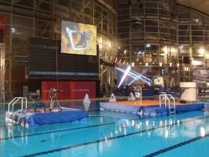 Pro 7 [a TV channel] event pontoon floating catwalk