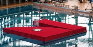 Телеканал Pro7 - логотип на воде