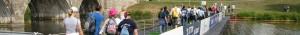 Public Viewing Ponton Schwimmplattform im Ötztal