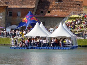 Red Bull Marburg event pontoon floating platform