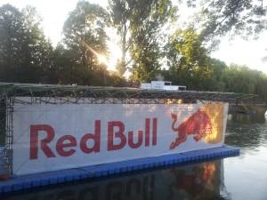 Red Bull floating advertising platform