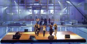 Pontoon music act show stage